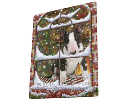 Please Come HomeChristmas Bull Terrier Dog Sitting In Window Blanket BLNKT53823