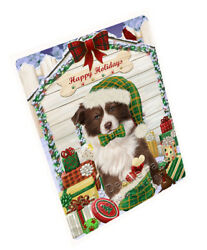 Happy Holiday Christmas Border Collie Dog House with Presents Blanket BLNKT78213