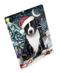 Have Holly Jolly American Staffordshire Terrier Dog Christmas Blanket BLNKT81336