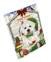 Holidays Christmas West Highland Terrier Dog House WPresents Blanket BLNKT80544