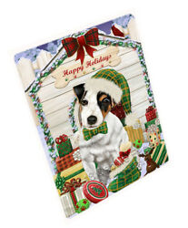 Holidays Christmas Jack Russell Terrier Dog House W Presents Blanket BLNKT79104