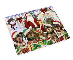 Holidays Christmas Yorkshire Terriers Dog House Gathering Blanket BLNKT80031