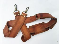 Leather Shoulder Replacement Strap Brown For Messenger Bag $24.99