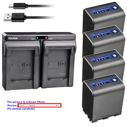 Kastar Battery Dual Usb Charger For Sony Np-qm91d And Sony Dcr-dvd200 Dcr-dvd201