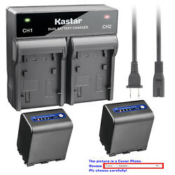 Kastar Battery Ac Rapid Charger For Sony Np-qm91d And Sony Dcr-dvd200 Dcr-dvd201