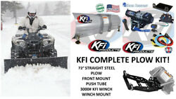 Kfi Yamaha Plow Complete Kit 72 Steel Straight Blade And03916-and03919 Wolverine Rspec/se