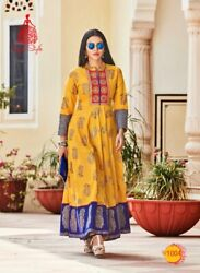 Indian Bollywood Kurti Kurta Designer Women Dress Gown Ethnic Top Tunic Bottom