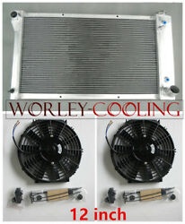 3-row Aluminum Radiator And Fans For 1967-1972 Chevy Pickup Truck 1968 1969 70 71