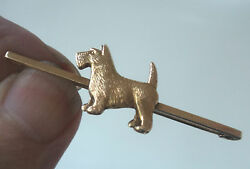9ct Gold Dog Brooch - Scottish Terrier  Westie c.191020s  John Grinsell
