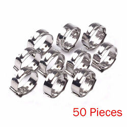 50PCS 1 2 PEX 17.5mm Stainless Steel Clamp Cinch Rings Crimp Pinch Fittings $8.81
