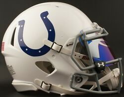 Indianapolis Colts Nfl Football Helmet With Under Armour Logo Visor / Eye Shield