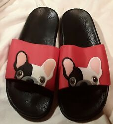 New Boston Terrier Sandles Shoes Scuffs Mules...9 size