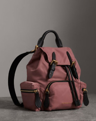 Authentic Burberry Small Rucksack Crossbody Straps Mauve Pink $1250+tax Backpack