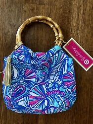 NEW Lilly Pulitzer for Target Girls Bamboo Wristlet Clutch Purse My Fans