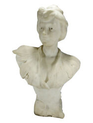 Antique French Marble Sculpture Signed 20155