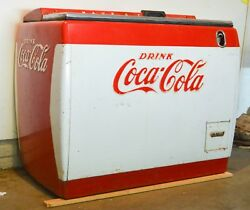 Working Condition 1950s Coca Cola Machine Westinghouse Model WH-12T Dry Cooler