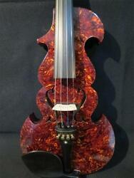 hand made Pretty celluloid Tortoise electric viola 15