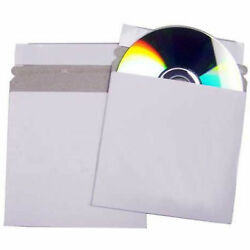 White Peel And Seal Cardboard Cd Mailer With Adhesive Tear Strip Sleeve Envelope
