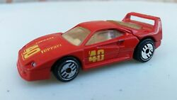 Vintage 1988 Hot Wheels ~ FERRARI F40 Ultra Hots Red with Lifting Hatch MALAYSIA