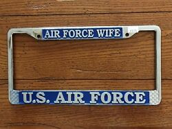 U.S. AIR FORCE Air Force Wife Chrome Plated Metal License Plate Frame
