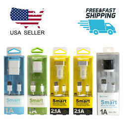 Wall Car Charger With Lightning 8pin Micro Usb Cable For Samsung Iphone Lg Htc