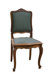 Set Of 10 Antique French Louis Xv Walnut Side Chairs