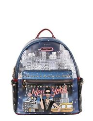 👄Nicole Lee USA NEW YORK WITH A STYLE PRINT BACKPACK WITH LAPTOP COMPARTMENT