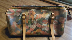 Dooney & Bourke Multi-Color Candy Print Coated CanvasLeather Barrel Bag