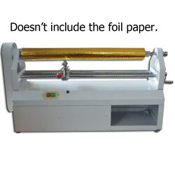 110v Electric Hot Foil Paper Cutter Paper Roll Slitter Stamping Embossing Machin
