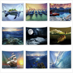 Sea Animal Tapestries Ocean Wall Hanging Tapestry Hippie Bedspread Dorm Decor