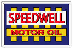 Speedwell Motor Oil Reproduction Garage Shop Metal Sign 12x18