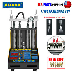 Autool Ct150 Ultrasonic Fuel Injector Cleaner Tester For Car Motor 4-cylinder Us