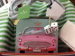 NWT Kate Spade Miami Checking In Car Violina Pink Cadillac Original Packaging