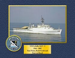 Uss Lasalle Agf3 Custom Personalized Print Of Us Navy Gift Idea
