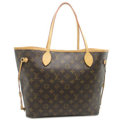 Auth Louis Vuitton Brown Monogram Canvas Neverfull MM Tote Bag M40995 (DH47614)