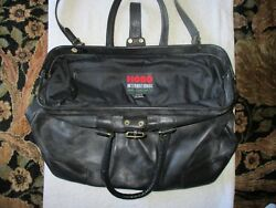 Pre Owned Hobo International Black Leather Luggage ( Doctor Bag Style )