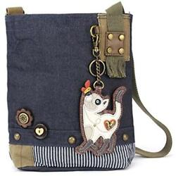 Chala Crossbody Bags Patch Cross-Body Women Handbag Blue Denim Canvas Messenger