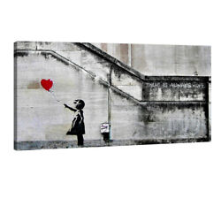 Large Canvas Print Painting Pic Wall Art Home Decor Girl With Red Balloon Banksy