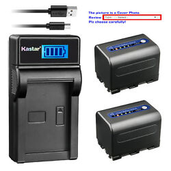 Kastar Battery Lcd Usb Charger For Sony Np-qm71d And Sony Dcr-dvd200 Dcr-dvd201