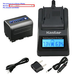 Kastar Battery Lcd Fast Charger For Sony Np-qm71d And Sony Dcr-dvd200 Dcr-dvd201