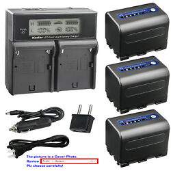 Kastar Battery Lcd Dual Fast Charger For Sony Np-qm71d And Dcr-dvd200 Dcr-dvd201