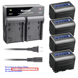 Kastar Battery Ac Rapid Charger For Sony Np-qm71d And Sony Dcr-dvd200 Dcr-dvd201