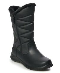 NIB $70-Womens Totes Joni Black Thermolite Quilted Winter Snow Boots-size 8 WIDE