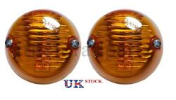 2x Side Marker Lights Amber Lamps E4 Marked For Truck Man Tga - Tgx - Tgl Lorry