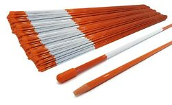 Pack Of 2000 Landscape Rods 48 Inches 5/16 Inch Orange With Cap And Tapered End