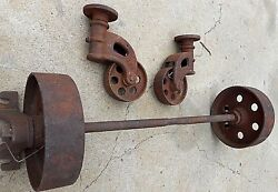 Industrial Age Vintage Factory Warehouse Railroad Coffee Table Cart Wheels Only