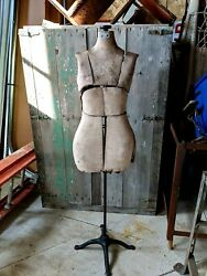 Steampunk Vintage Antique Womenand039s Dress Sewing Form Mannequin General Store