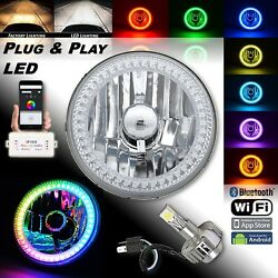 5-3/4 Rgb Smd Color Chasing Halo Motorcycle Headlight 18/24w Led Light Bulb 1