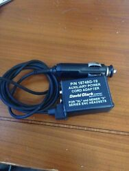 David Clark Xl And X Series Enc Headset Aux Power Cord Adapter P/n 18748g-19
