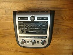 2006 NISSAN MURANO OEM BOSE 6 Disc Radio Tape Player Climate Control 28188-CC200